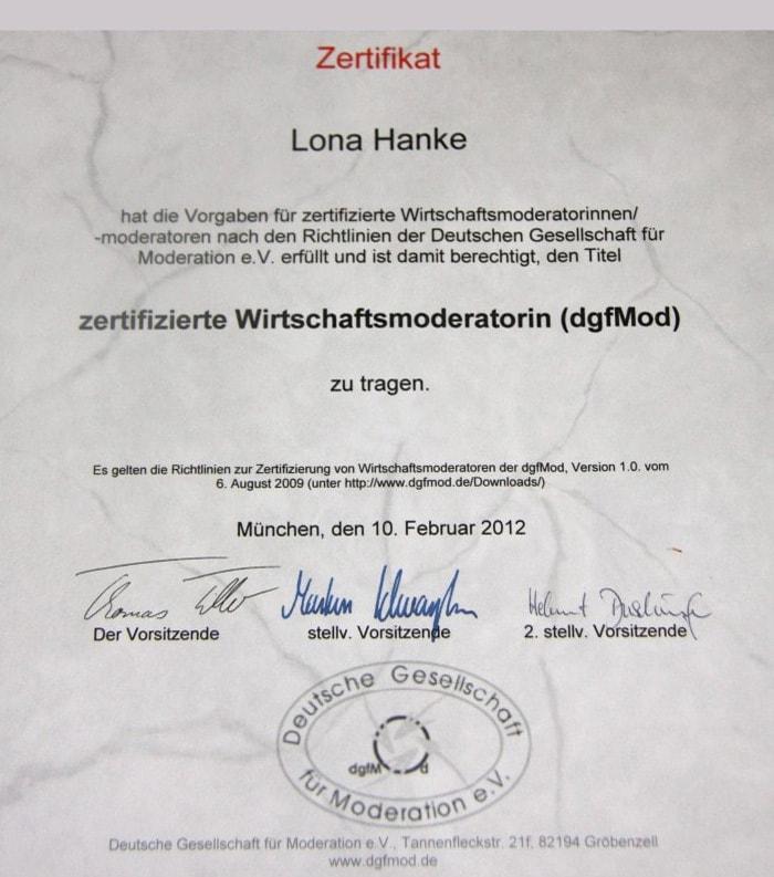 Die Zertifizierung zum Wirtschaftsmoderator