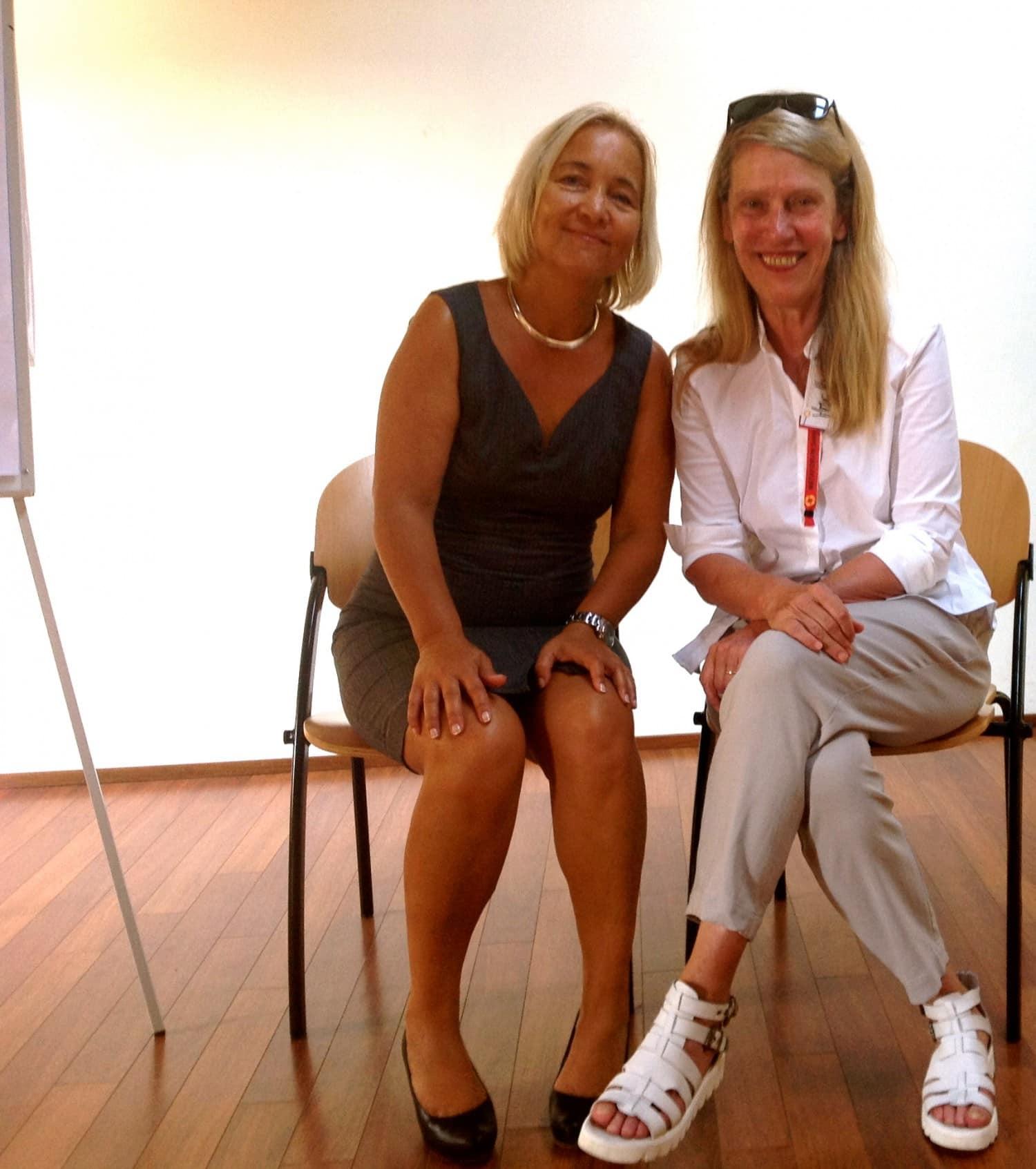 Das Treffen und Arbeiten mit Dr. Sonja Radatz